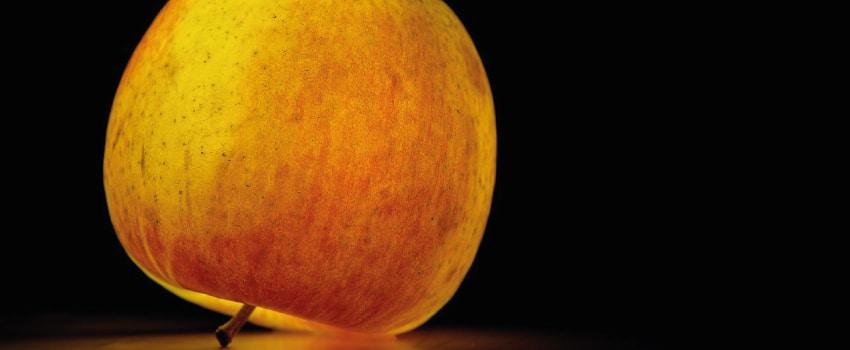 Ein Apfel abfotografiert.