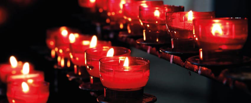 Kerzenlichter für innere Ruhe.