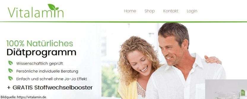 Vitalamin Erfahrungen, die auf der Hersteller-Website vermittelt werden.