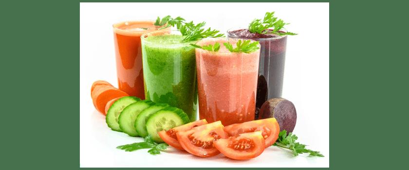 Diverse Gemüse Shakes