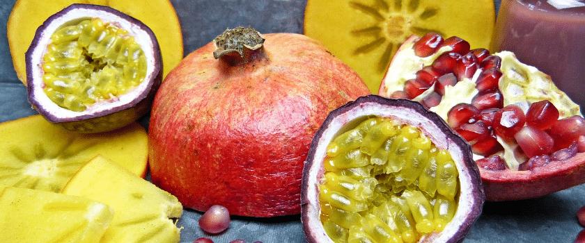 Granatapfel, Passionsfrucht